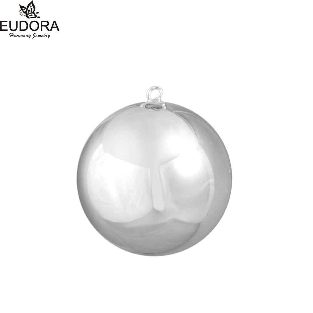 Eudora Harmony Bola Jewelry 1piece 12mm/16mm/18mm/20mm Copper Metal Chime Ball Pendant Angle Caller Mexican Bola Pendants