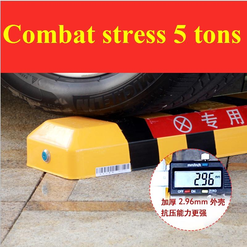 Automatic car parking barrier with 2 remote controls - Battery -No Parking Cars (no battery included) parking post bollard