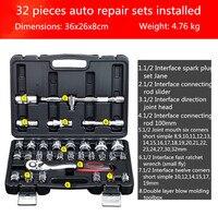 32, pieces, car repair ratchet fast, batch head, suit, hardware tools