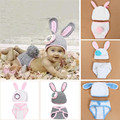 Baby Photo Props Hot Animals Infant Rabbit Cotton Crochet Costume Baby Shower Birthday Party Photography Prop