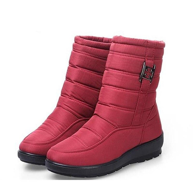 Nieve Zapatos Moda Casual army brown Las Madre De Black Botas Marca blue Invierno Impermeable Tamaño Green Mujeres Snurulan Plus Para 2017 La red Antideslizante Flexible vFyPI
