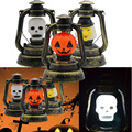 Halloween Prop Music Light Portable Nightlight Lantern Pumpkin/Witch/Skull Head