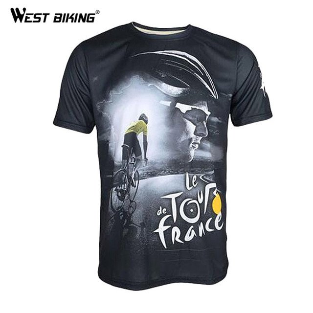 2017 Cycling Jersey Printed Short-sleeved Tour de France to Commemorate the Rappelling Breathable Wicking Bike Bicycle T-shirt