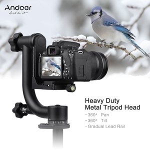 Image 3 - Andoer Heavy Duty Metal Panoramic Gimbal Tripod Head Use for Arca Swiss Standard Quick Release Plate Aluminum Alloy
