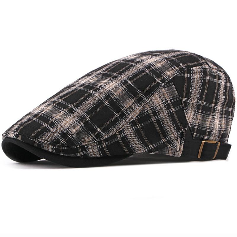 678bf61f092 Ht1836 berets hats for men women plaid ivy newsboy caps unisex adjustable cabbie  flat caps berets casual male female beret caps