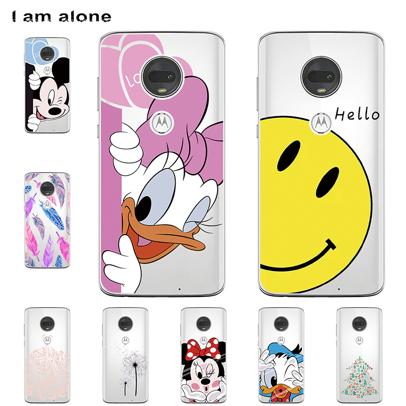 I am alone Phone Bags For Motorola Moto G7 G7 Play G7 Plus G7 Power Solf TPU Cellphone Fashion Cute For Cases Free Shipping
