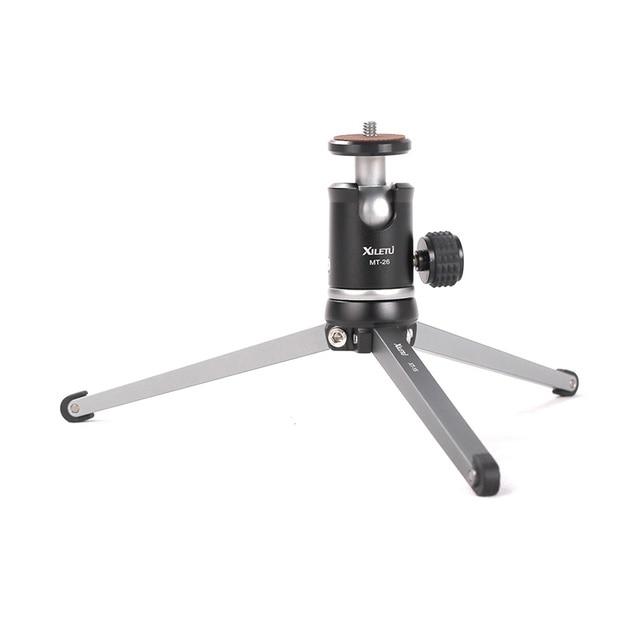 Ulanzi XILETU MT26 + XT15 Mini trépied en métal avec rotule détachable Rotation de 360 degrés, trépied en alliage daluminium pour GoPro DSLR