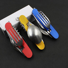 Stainless Steel Hunting Survival Tools Multitool Pocket Camping Folding Knife Outdoor Travel Cutlery Sets Knives