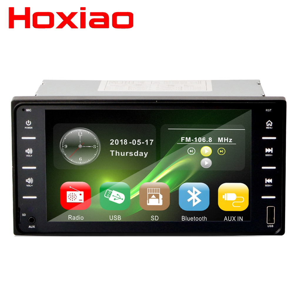 Car Radio 2 Din DVD player Bluetooth HD 7 Touch for Toyota corolla 12V FM Multimedia