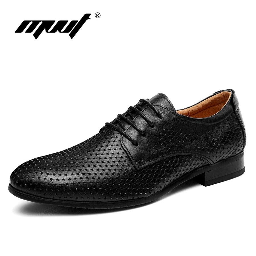 Брендовое качество туфли мужские оксфорды Большие размеры 11 Мужская обувь из натуральной кожи дышащая официальная обувь мужские туфли на п...