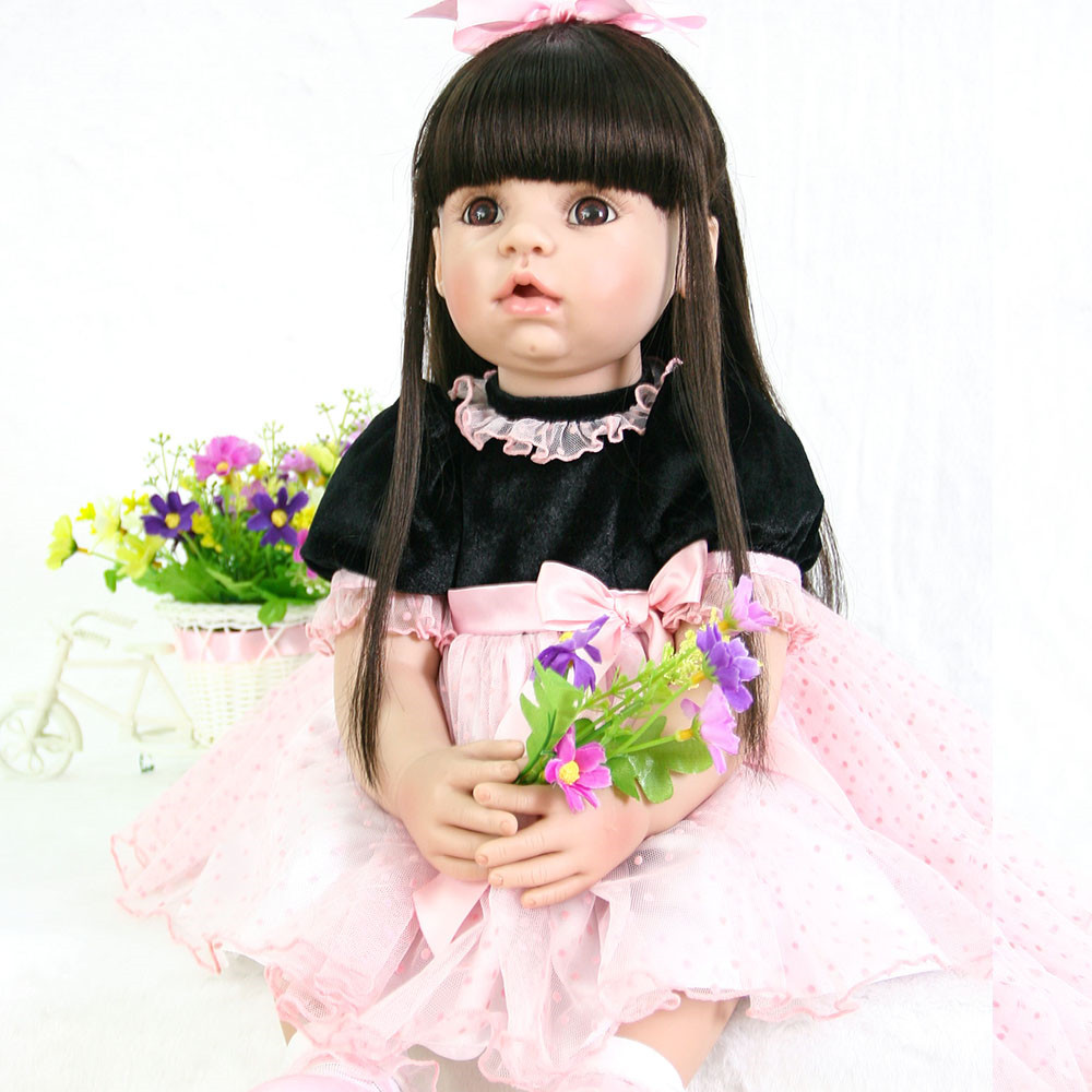 купить NPK DOLL 58cm Open mouth Reborn Babies Dolls Lifelike baby alive Bebe Reborn Baby Toys For Girls Doll For Play DIY masha Gifts