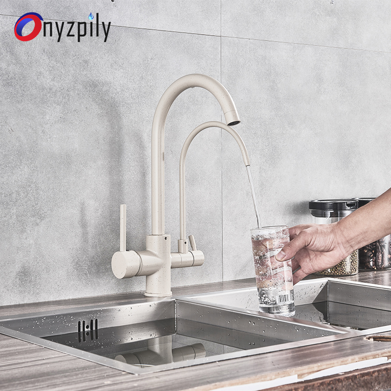 купить Filter Kitchen Faucets Deck Mounted Mixer Tap 360 Rotation with Water Purification Features Mixer Tap Crane For Kitchen недорого