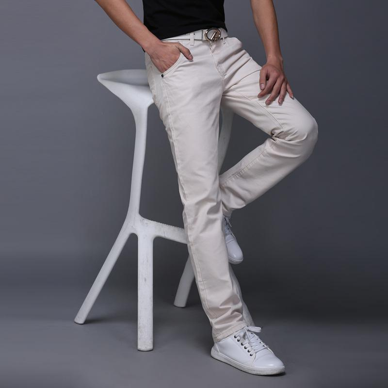 2019 New Spring Summer Casual Wear Pants Men Cotton Slim Fit Chinos Fashion Trousers Male Brand Clothing Plus Size 9 Colour 5