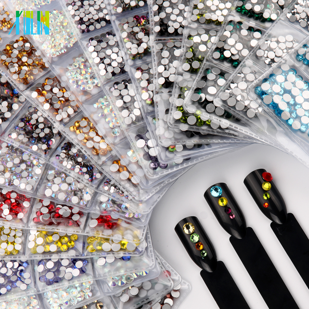 Mix Size Multi Color 3D Rhinestones for Nail arts