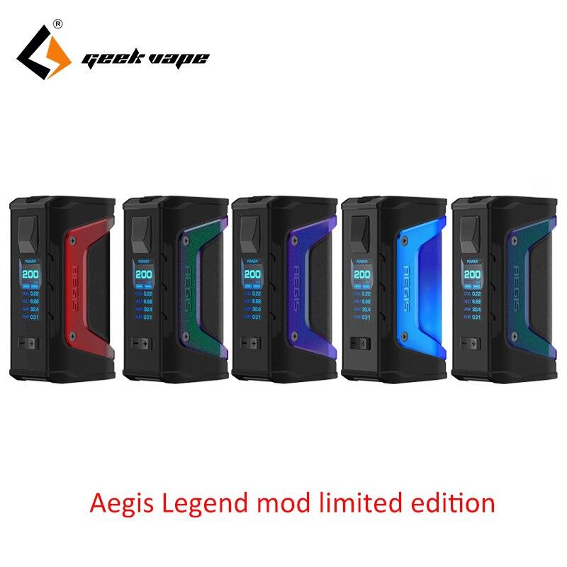 где купить Original Limited edition GeekVape Aegis Legend mod 200W TC Box MOD Powered by Dual 18650 batteries e cigs for zeus rta blitzen дешево