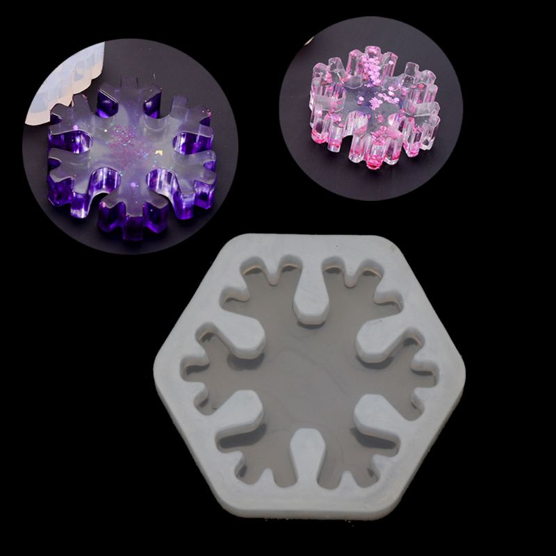 3D Snowflake Silicone Mold Epoxy Resin Casting Jewelry DIY Craft Jewelry Tools & Equipments