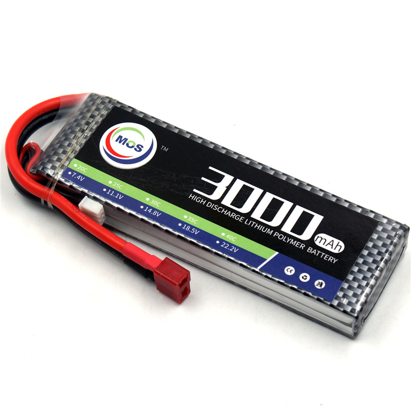 MOS 2S RC LiPo Battery 7.4v 3000mAh 40C Li-Po Batteries For RC Airplane Drone Toy Batteria AKKU Free shipping mos rc airplane lipo battery 3s 11 1v 5200mah 40c for quadrotor rc boat rc car