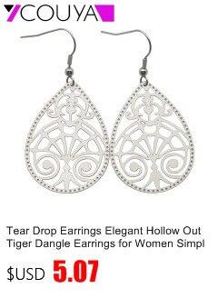 Noir /& blanc acrylique fleur de cristal femmes Fête de mariage élégant Dangle Earrings