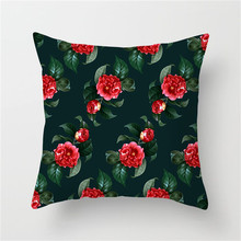 Fuwatacchi Tropical Print Pillow Flower Leaf Pineapple Cushion Cover Home Decor Wedding Decoration Pillow Case Chair Cover fuwatacchi leaf geometry wedding throw pillow cover tropical plant cushion cover for car home chair decoration pillow case 2019