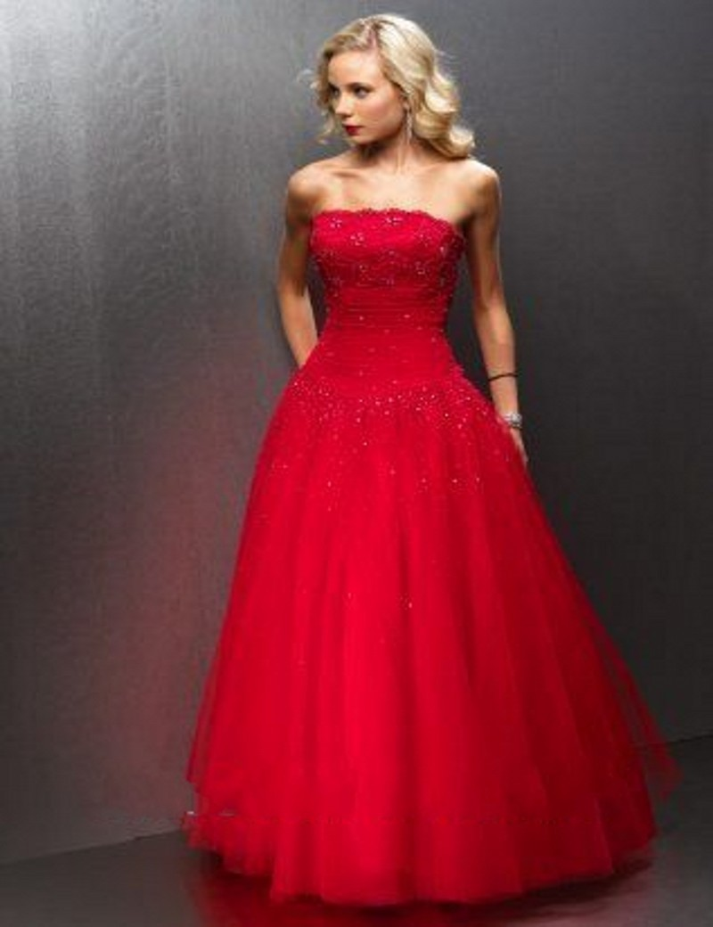 Online Get Cheap Strapless Red Prom Dress -Aliexpress.com ...