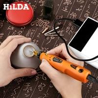 HILDA 3,6 В Мини дрель беспроводной роторный инструмент с шлифовальными аксессуарами набор многофункциональная мини гравировальная ручка для ...