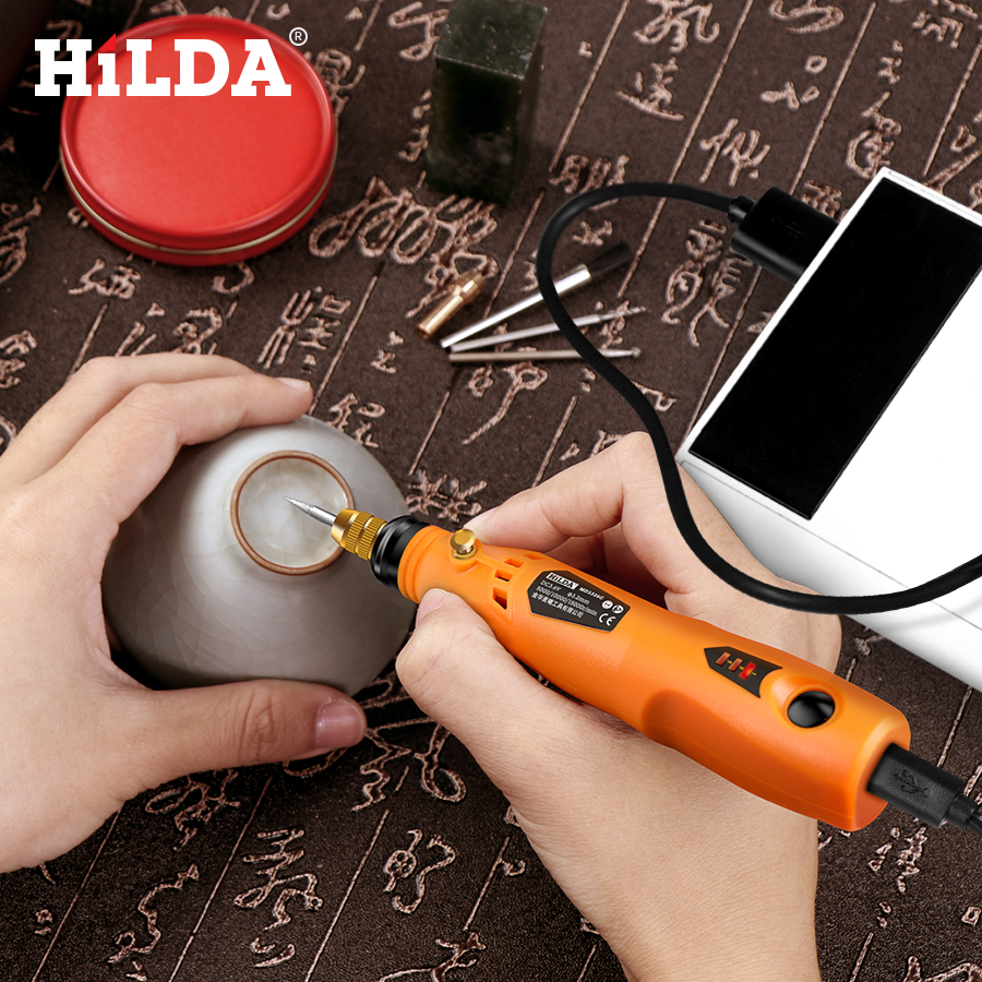 HILDA 3.6V Mini Drill Cordless Rotary tool With Grinding Accessories Set Multifunction Mini Engraving Pen For Dremel toolsHILDA 3.6V Mini Drill Cordless Rotary tool With Grinding Accessories Set Multifunction Mini Engraving Pen For Dremel tools