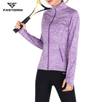 FASTORM Running Jackets Women Long Sleeve Outdoor Breathable Sportswear Fitness Polyester Yoga Training Professional Jacket