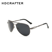 HDCRAFTER Fashion Men's UV400 Polarized coating Sunglasses men Driving oculos Eyewear Sun Glasses for Man with Box Free Shipping