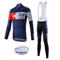 Cycle Race Winter Thermal Fleece Cycling Clothes For Men S Bicycle Jersey 9D Bib Pants Long