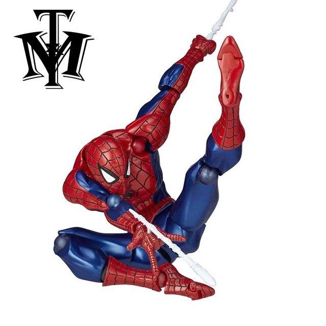 Amecomi Yamguchi Spider-man Figura Revoltech Série N ° 002 Spiderman Ação PVC Figuras Colecionáveis Modelo Crianças Brinquedos Bonecas