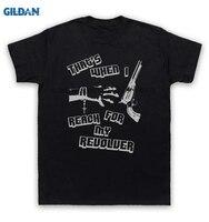 GILDAN 100% Baumwolle O-ansatz printed T-shirt Mission Von Burma T-shirt Das ist, Wenn Ich Erreichen Für Meine Revolver