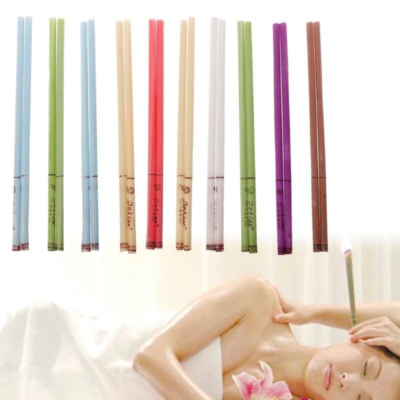duai 10Pcs/Set Ear Cleaner Wax Removal Ear Candles Treatment Care Healthy Hollow Cone