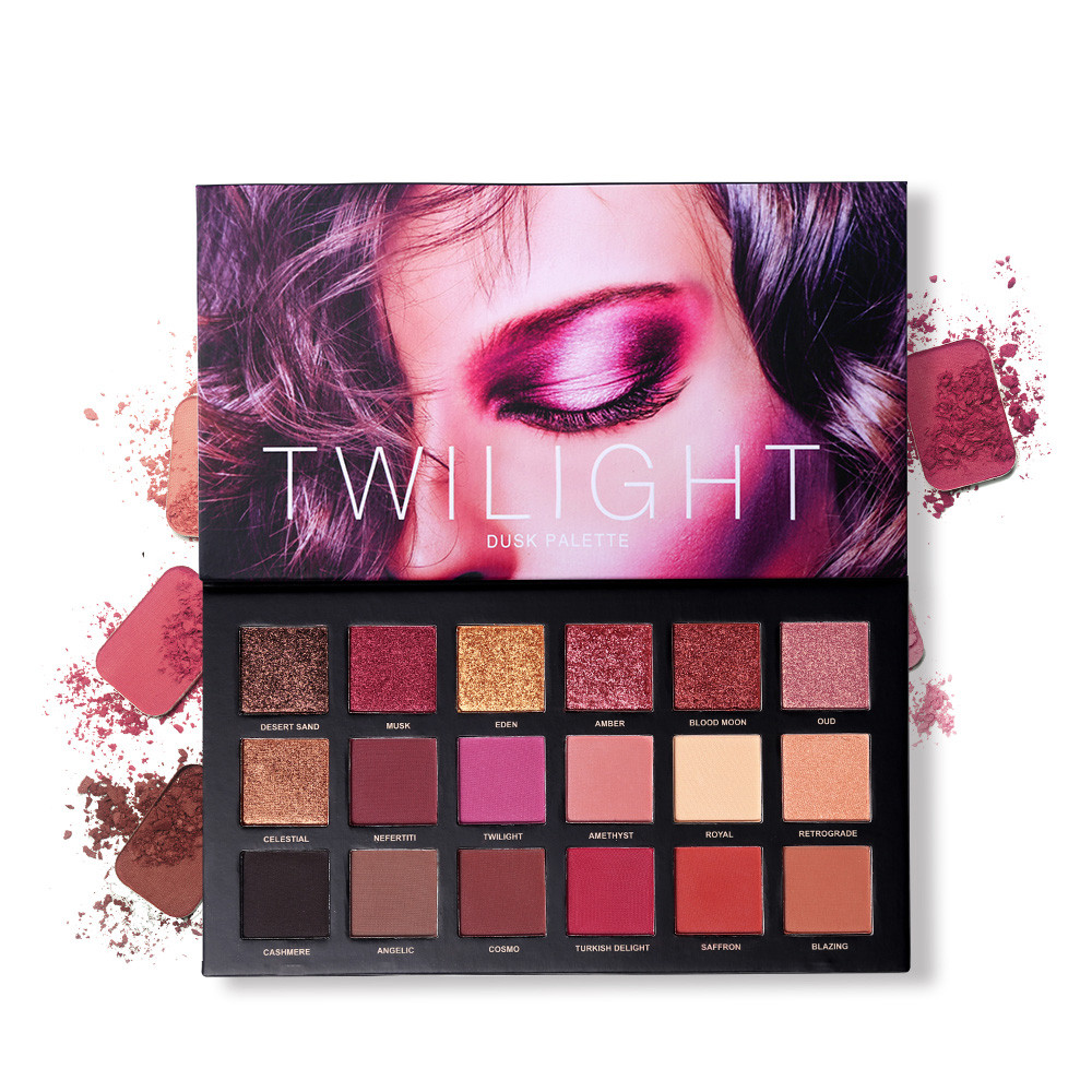18 Colors Eye Shadow Makeup Palette Matte Shimmer Velvet Pigmented Twilight And Dusk Eyeshadow Powder Make up Cosmetics Set