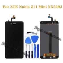 100% اختبار جديد ل ZTE nubia z11 mini nx529j LCD + محول الأرقام بشاشة تعمل بلمس مكون استبدال ل nubia z11 mini nx529j عرض