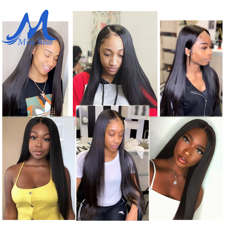 Missblue 10A Mink Quality Brazilian Virgin Hair Bundles Straight Grade 10A Raw Human Hair Weave Bundles Extensions 1 3 4 P/Lots 1