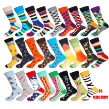 Men Funny Socks 26Colors Space Man Hot Dog Watermelon Pokemon Novelty Combed Cotton Casual Crew