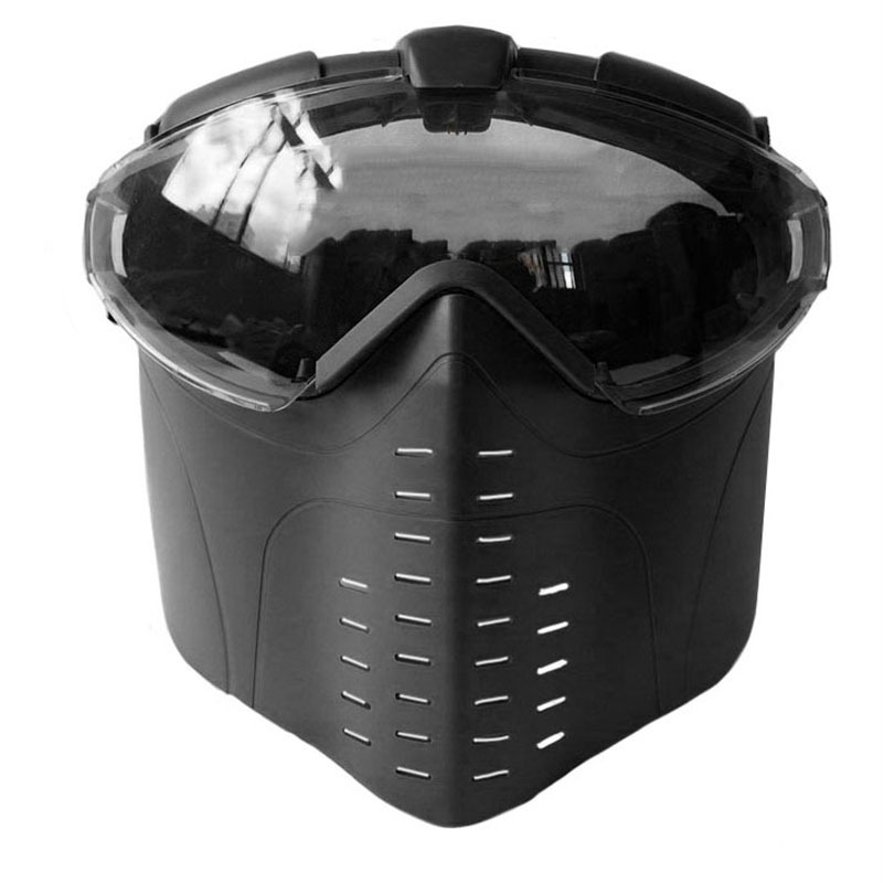Anti-Fog Ventilated Tactical Masks Full Face Electric Fan Gas Masks With Goggle Outdoors CS War game Hunting Paintball Airsoft chief sw2104 skull style full face mask for war game cs black