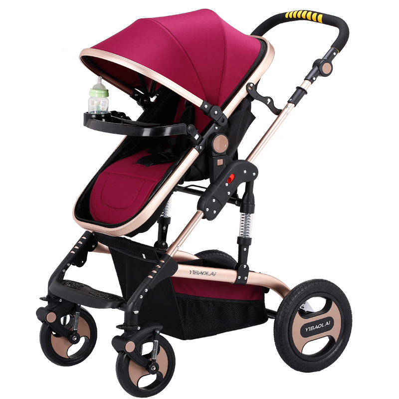 High Landscape Prams For Newborn Folding Baby Stroller 3 in 1 poussette Infant Sit and Lie Pushchair Kids Trolley bebek arabasi