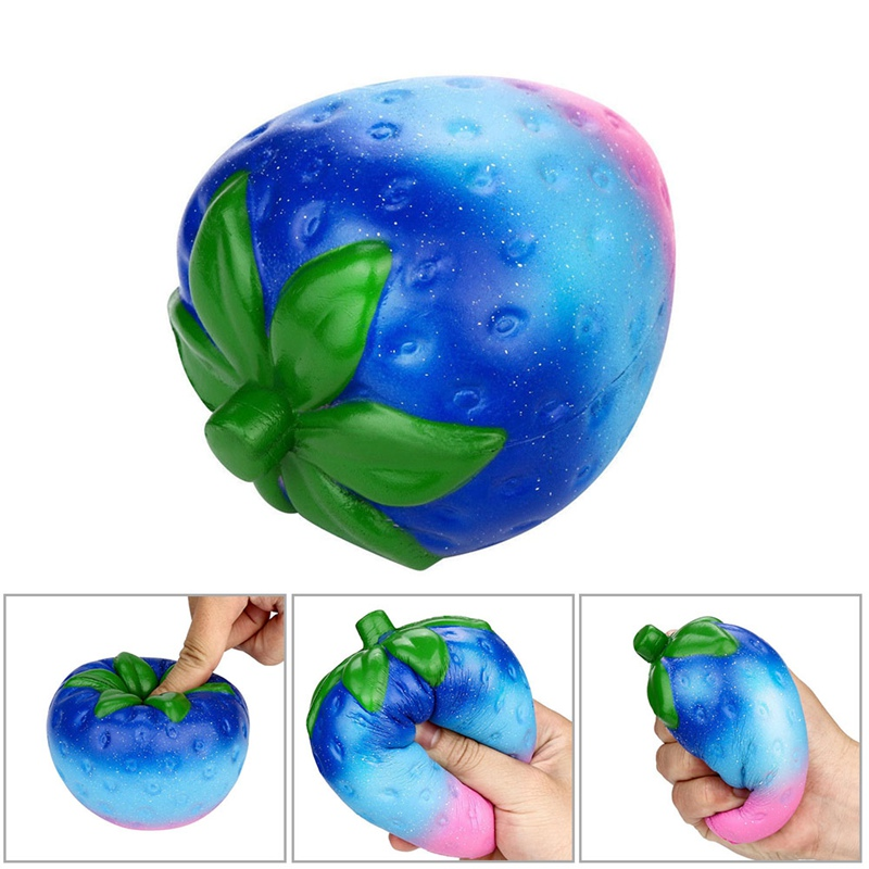 Squeeze PU Slow Rebound Simulation Fruit Big Strawberry Toy Brithday Anti Child Relieve Stress Toys Funny Gift