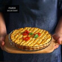 21cm Round shape Glass Pie dishes fruit pie pans Pizza pan baking pan for cakes fruit tart, apple pie 1pc/lot