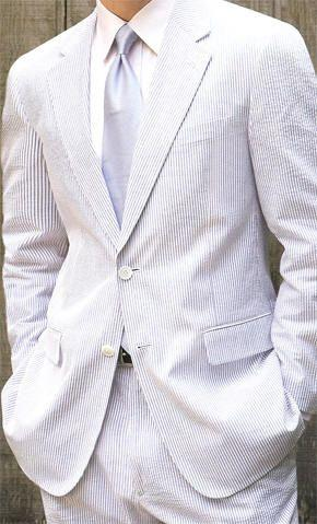 Stripes Seersucker Tuxedos For Men/Groom Wear /wedding Suits For Mens(jacket+pants+Bowtie)