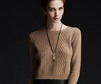 Кашемировый свитер Для женщин красно коричневый пуловер с круглым вырезом теплая мягкая Твердые натуральный Ткань Высокое качество Беспла