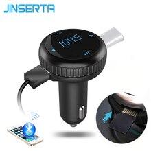 Jinserta черный автомобиль MP3 аудио плеер Bluetooth fm-передатчик Беспроводной модулятор автомобильный комплект громкой связи 2 USB Порты и разъёмы W/TF Слот