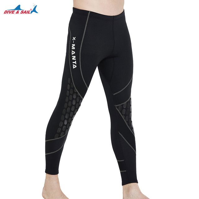 DIVE&SAIL 1.5mm High Elastic Neoprene Diving Pants Keep Warm Snorkeling Wetsuit for Men Winter Swimming Rowing Sailing Surfing