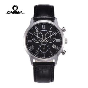 Image 1 - Relogio Masculino CASIMA קוורץ שעון גברים למעלה מותג יוקרה שעון יד Mens לוח שנה שעון עור עסקי שעות Montre Homme