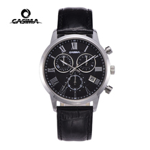 Relogio Masculino CASIMA Quartz Horloge Mannen Topmerk Luxe Polshorloge Mens Kalender Klok Lederen Business Uur Montre Homme