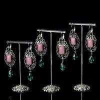 Metal Earrings Display Holder Jewelry Display Holder Jewellery Display Rack Wrought Iron Earrings Display Stand