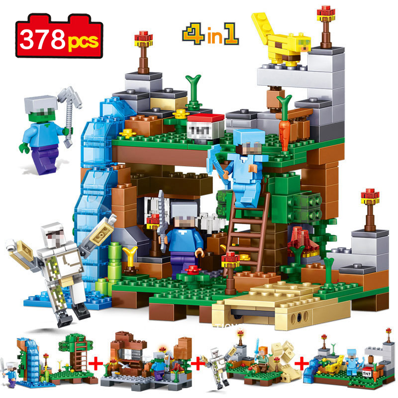Minecrafted Figures Building Blocks DIY Toys Bricks For Educational Kids Gift Toys Compatible Legos Minecraft Friends City Toys 10646 160pcs city figures fishing boat model building kits blocks diy bricks toys for children gift compatible 60147