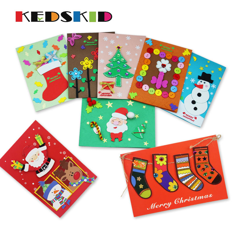 Manual Material Package Birthday Paper Animal Greeting Cards Creative Christmas Card New Year Token