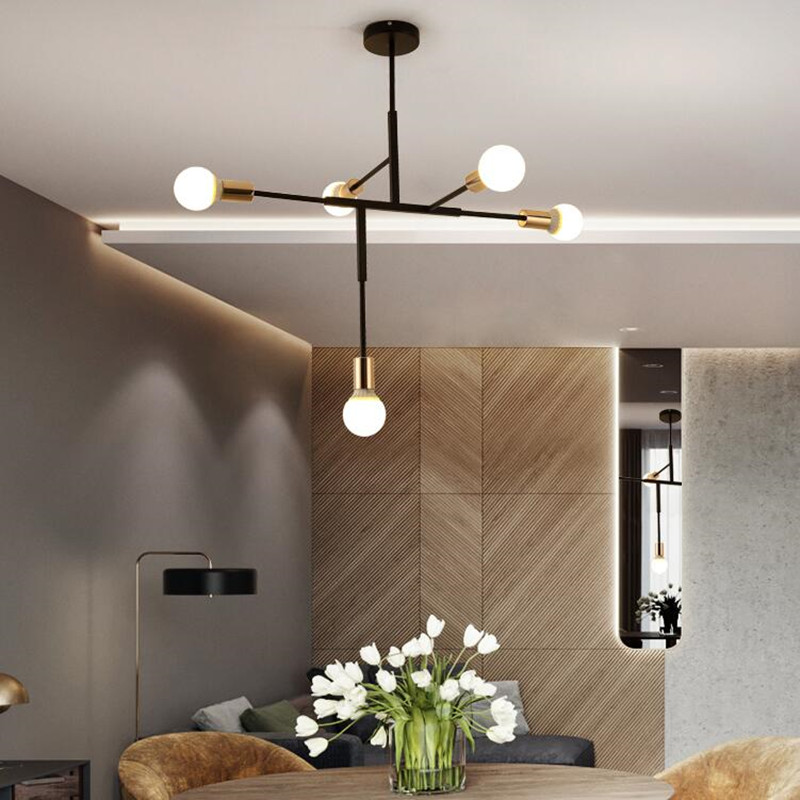 Northern Europe Postmodernism Simple Living Room Personality Originality LED Pendant Light Art Cafe Bedroom Bar Decor Fixture 6 e27 heads nordic post modern designer originality personality art living bed room cafe fashion led chandelier home decor light